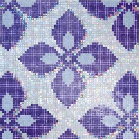 "Mir Mosaic, Alma Tiles, Patterns 0.6"" Collection, Multi-color, 11.6"" x 11.6"""