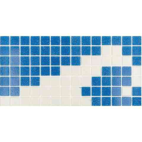"Mir Mosaic, Alma Tiles, Borders Collection, Multi-color, 12"" x 5.9"""