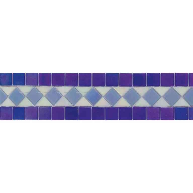 "Mir Mosaic, Alma Tiles, Borders Collection, BC316, 12"" x 2.9"""