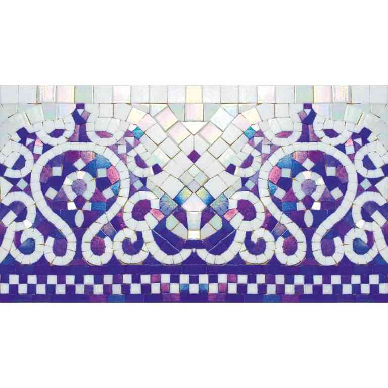 "Mir Mosaic, Alma Tiles, Borders Collection, BC322, 16.8"" x 9.4"""