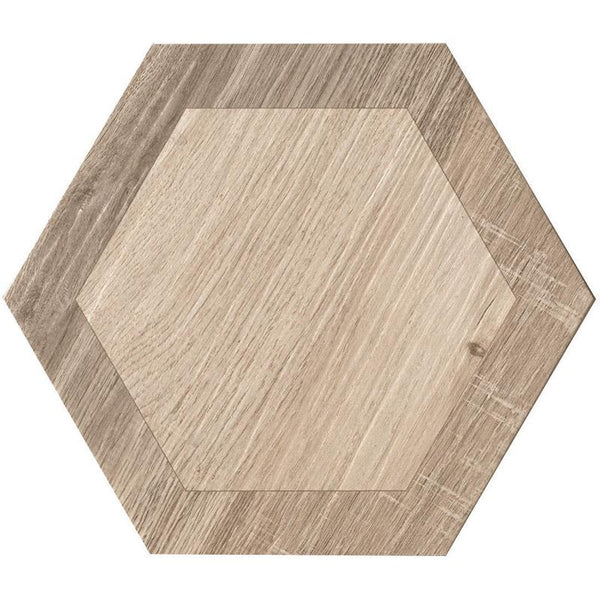 "Mir Mosaic, Porcelain and Ceramic Tiles, Royal Wood Collection, Multi-color, 9.5"" x 9.5"""
