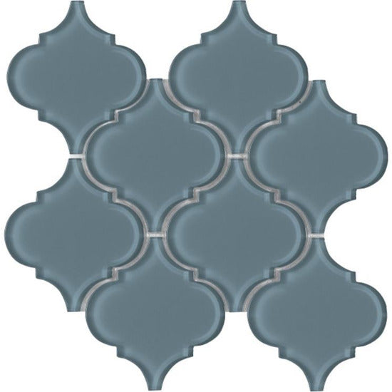 "Elysium Tiles, Pool Tiles, Arabesque, Multi-color, 10"" x 10.5"""