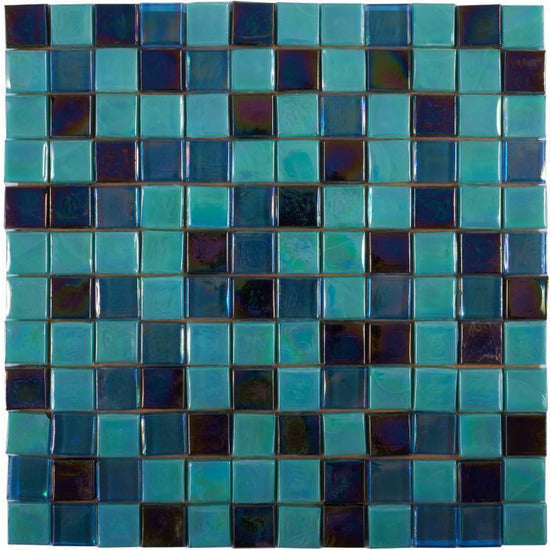 Elysium Tiles, Mosaic Glass, Laguna, Multi-color, Multi-size