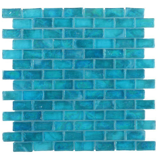 Elysium Tiles, Mosaic Glass, Malibu, Multi-color, Multi-size