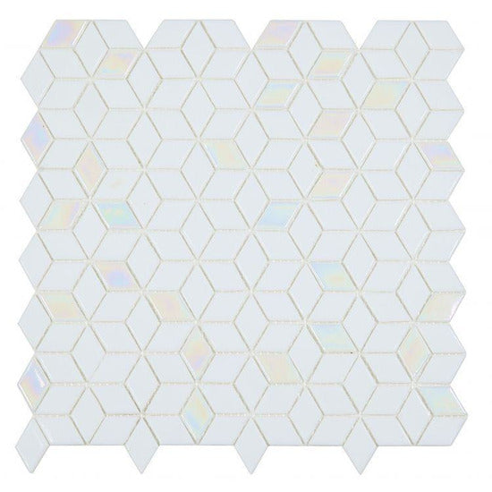"Elysium Tiles, Mosaic Glass, Cube, Multi-color, 11.5"" x 11.75"""
