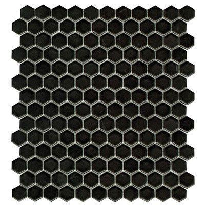 "Porcelanosa Mosaics Tile , Air Hexagon, Multi-Color Tiles Porcelanosa USA Black Matt 12""X12"""