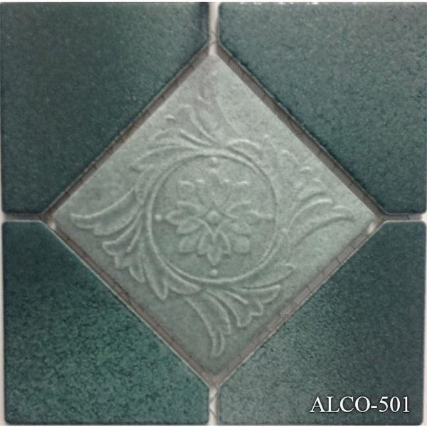 "Fujiwa Pool Tiles, Alco Deco Series, Multi-color, 6"" x 6"""