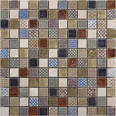 "Porcelanosa Mosaics Tile, Ancient, Multi-Color Tiles Porcelanosa USA Bath 12""X12"""