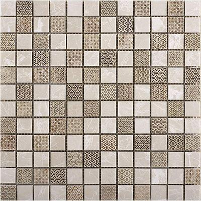 Porcelanosa Mosaics Tile, Ancient, Multi-Color