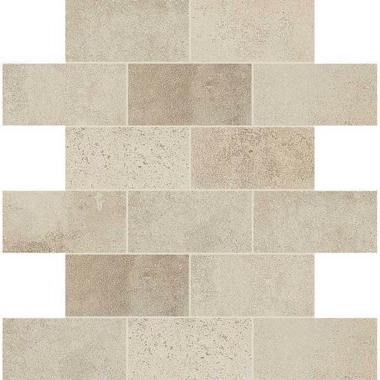 American Olean Coordinating Glazed Ceramic Mosaic Tile, Fusion Cotto Collection, Multi-Color, 18x18 Tiles American Olean Ecru Beige