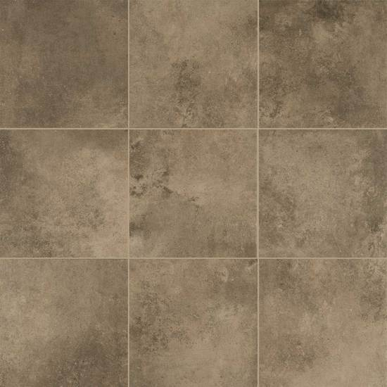 American Olean Glazed Porcelain Floor Tile, Fusion Cotto Collection, Multi-Color, 18x18