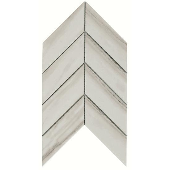 American Olean Glazed Porcelain Chevron Mosaic Tile, Ideology Collection, Multi-Color, 8x14