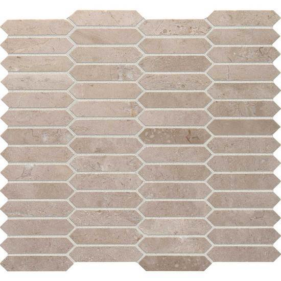 American Olean Natural Stone, Mosaic Tile, Candora Collection, Multi-Color, 12x14
