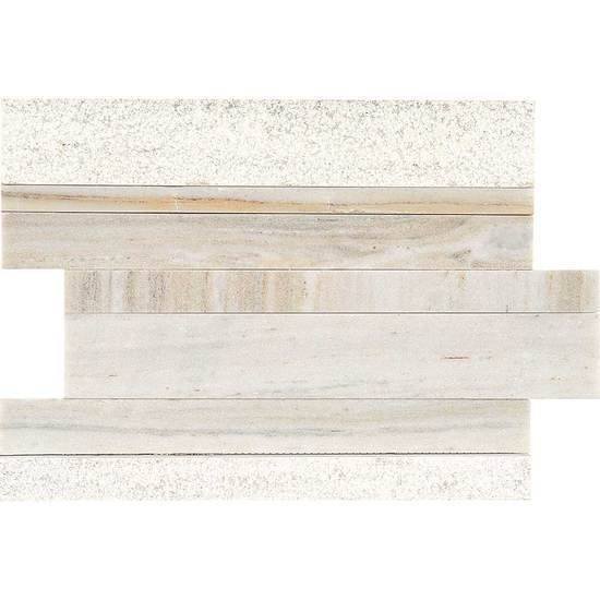American Olean Natural Stone, Mosaic Tile, Ascend Collection, Multi-Color, 8x12