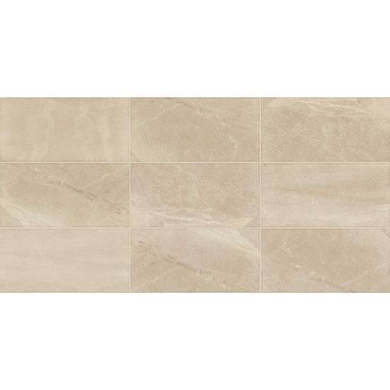 American Olean Glazed Porcelain Floor Tile with StepWise, Merit Collection, Multi-Color, 12x24