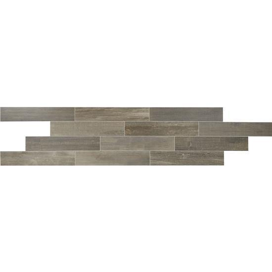 American Olean Glazed Porcelain Floor Tile, Timberbrook Collection, Multi-Color, 8x40
