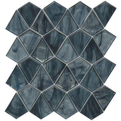 "Porcelanosa Mosaics Tile, Aqua, Multi-Color Tiles Porcelanosa USA Blue 12""X13"""