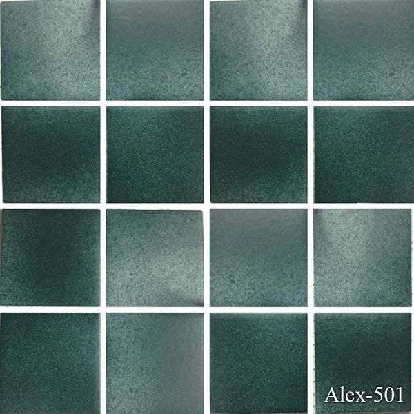 "Fujiwa Pool Tiles, Alex Series, Multi-color, 3"" x 3"""