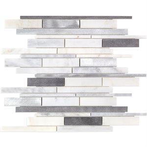 Soho Studio Metal Tiles, Aluminum, Multi-Color, 12x12 Tiles Soho Studio Stoneflow Bliss