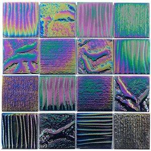 Soho Studio Glass Tile, Aqueous, Multi-color, 3x3 Tiles Soho Studio Calabasas