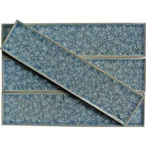 Soho Studio Glass Tile, Art Glass, Multi-color, 2x8 Tiles Soho Studio Blue Sea