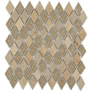 Soho Studio Glass Tile, Art Glass Country, 11x12 Tiles Soho Studio Country Travertine Diamond