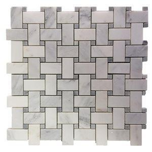 Soho Studio Marble Tiles, Basket Weave, Multi-Color, 11x11