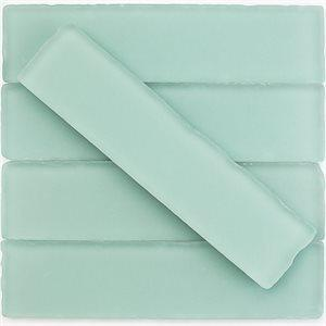 Soho Studio Glass Tile, Beach Glass, Multi-color, 2x8