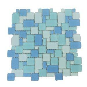 Soho Studio Glass Tile, Beach Glass Surf, 12x12
