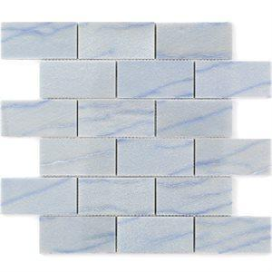 Soho Studio Marble Tiles, Blue Macauba, Multi-Color, 12x12