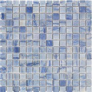 Soho Studio Marble Tiles, Blue Macauba Squares, Multi-Color, 12x12