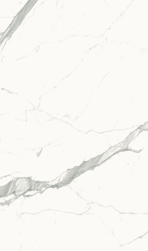 "SapienStone, Book-matched Porcelain Slab, Silky/Polished, Calacatta Statuario Mirrored, 126"" x 60"""