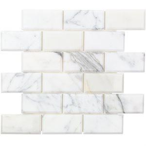 Soho Studio Marble Tiles, Calacatta, Multi-Color, 12x12