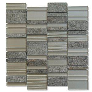 Soho Studio Closeout Tiles, Grand Waterfall, Multi-Color, 12x12