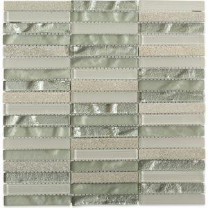 Soho Studio Closeout Tiles, Fusion Bryce, Multi-Color, 12x12