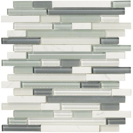Marazzi Glass, Mosaic , Crystal Stone ll, Multi-Color