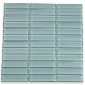 Soho Studio Glass Tile, Crystal Stacked, Multi-color, 12x12
