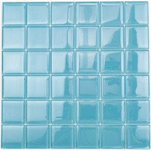 Soho Studio Glass Tile, Crystal Polished, Multi-color, 12x12