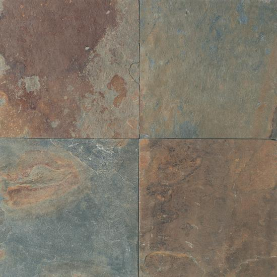 American Olean Natural Stone, Floor Tile, Slate Collection, Multi-Color, 16x16 Tiles American Olean Mongolian Spring