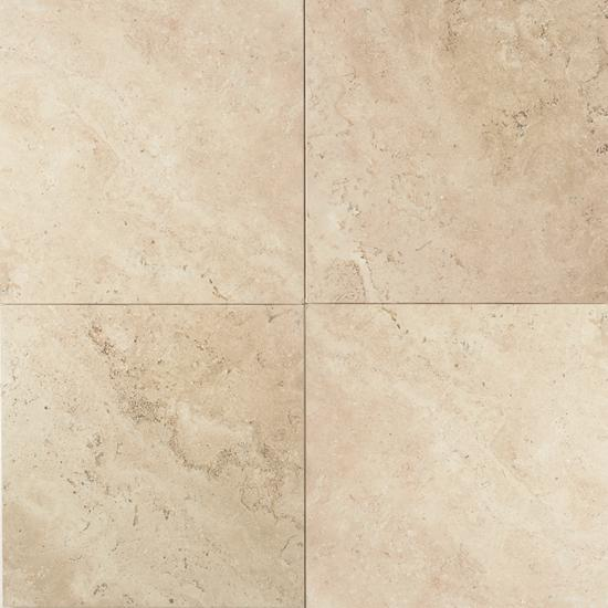 American Olean Natural Stone, Floor Tile, Travertine Collection, Multi-Color, 24x24 Tiles American Olean Baja Cream
