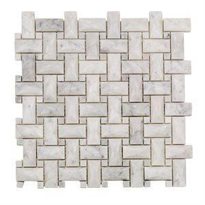 Soho Studio Marble Tiles, Dimension Weave, Multi-Color, 12x12
