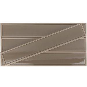 Soho Studio Ceramics Tiles, Hampton Frame, Multi-Color, 4x24