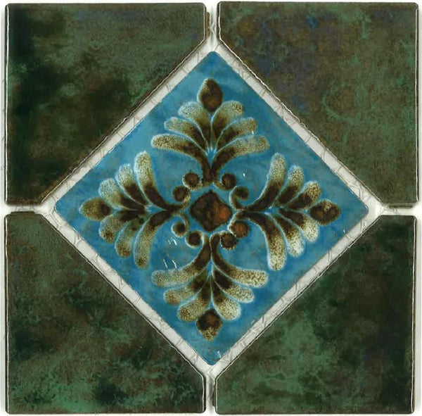 "Fujiwa Pool Tiles, Joya Deco Series, Multi-color, 6"" x 6"""