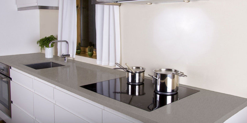 Viatera Quartz Counter-top, Classic Collection, Lunar Ice