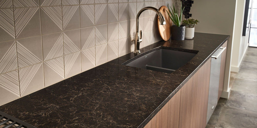 Viatera Quartz Counter-top, Musica Collection, Nocturne