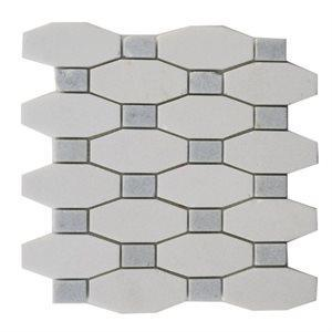 Soho Studio Marble Tiles, Long Octagon Pattern, Multi-Color, 9x10