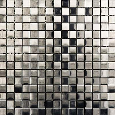 "Porcelanosa Mosaics Tile, Metal, Multi-Color Tiles Porcelanosa USA Acero 12""X12"""
