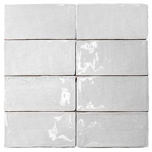 Soho Studio Ceramics Tiles, Masia, Multi-Color, 3x6 Tiles Soho Studio Blanco