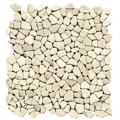 "Porcelanosa Mosaics Tile, Paradise MiniBroken, Multi-Color Tiles Porcelanosa USA Edge Blanco 13""X13"""