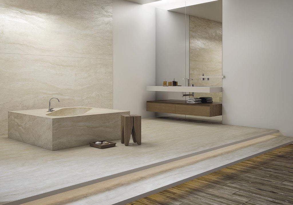 SinterClad, Porcelain Slab, Romano Collection, Navona Travertine